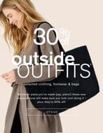 30% off Selected Clothing, Footwear & Bags