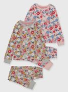 Retro Floral Pyjamas 2 Pack (1.5-12 Years)  from £5.00