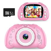 Lightning Deal! Kids Camera for Girls,12MP 1080P + 32GB SD Card