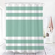 DEAL STACK - WELTRXE Polyester Fabric Stripe Shower Curtain + 5% Coupon