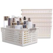 DEAL STACK - 6 Pack Plastic Storage Baskets + 5% Coupon
