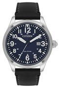 Citizen Men's Eco-Drive Analogue Watch with Leather Strap