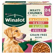 24 X 100g Winalot Dog Pouches Fiver Delivered with Prime