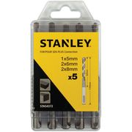 5 Piece Stanley SDS plus Drill Bit Set
