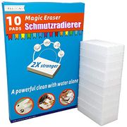 Magic Eraser Sponges 10 Erasers 2X Extra Durable Scrubber & Cleaning Sponge