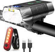 REHKITTZ Bike Lights Set 3300 Lumens Super Bright - Only £12.49!