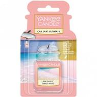 YANKEE CANDLE Pink Sands Ultimate Car Jar Air Freshener