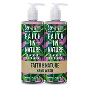 Faith in Nature Natural Lavender and Geranium Hand Wash Pack,