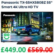 "£120 off - Panasonic TX-55HX580BZ 55"" Smart 4K Ultra HD TV ***4.8 STARS***"