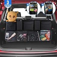 Car Boot Organiser + 2 Car BackSeat Organisers