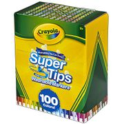Crayola Super Tips Washable Markers - 100 Colours!