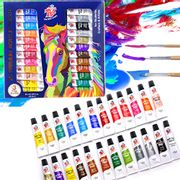 24 Colours Acrylic Paints for Beginners & Professionals (22 Basic & 2 Metallic)