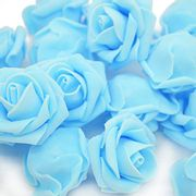 50 X INMOZATA Artificial Flower Foam Roses Heads - Only £5.49!