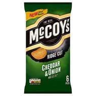 McCoy's Cheddar & Onion Multipack Crisps 6 Pack - Only £1.25!