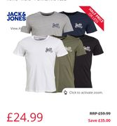 Jack and Jones 5 Pack of Mens T Shirts