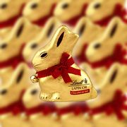 Great Value 32 X Lindt Gold Bunny 50g Milk Chocolates