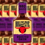 6 X Bulls Eye Bbq Sauce Roasted Onion 300ml Plastic Squeezy Bottles