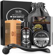 DEAL STACK - Beard Growth Kit, Beard Roller Kit for Beard + £5 Coupon