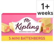 Mr Kipling Mini Battenberg Cakes 5 Pack (Clubcard Price)