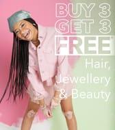 BUY 3 GET 3 FREE Hair & Jewellery