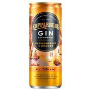 Kopparberg Passion Fruit & Orange Gin & Lemonade 250ml 4 for £5