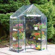 VonHaus Compact Walk in PVC Plastic Greenhouse