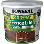 Ronseal One Coat Fence Life 5L Dark / Medium Oak