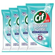 Cif Power & Shine Multi-Purpose Large & Thick Wipes (4 X 90 Pack)
