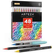 Arteza Real Brush Pens, 48 Colours for Watercolour Painting