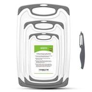 SKERITO Chopping Board Set, BPA Free Plastic Kitchen Cutting Boards