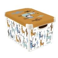 Llama Plastic Deco Storage Box - Multi-Coloured - 22L