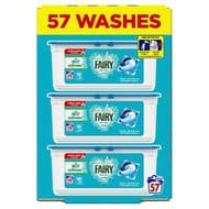 57 Washes- Fairy Non Bio Pods Washing Capsules Sensitive Skin