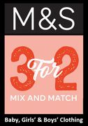 M&S Kids & Baby Clothing - 3 for 2 - Mix & Match - DEAL