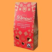 Divine Fairtrade Smooth Milk Chocolate Hearts 80g Box - £1 at Yankeebundles