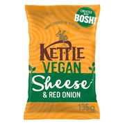 Kettle Chips Vegan Sheese/Red Onion 135g