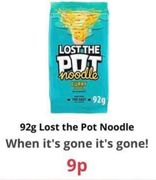 Lost the Pot Noodle at Farmfoods