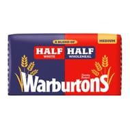 Warburtons Half White Half Wholemeal Medium 800g