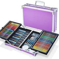 Artworx 125 Piece Art Studio with Aluminium Case - Purple