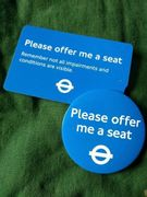 Free 'Please Offer Me a Seat' Badge and Card (Greater London and SE England)