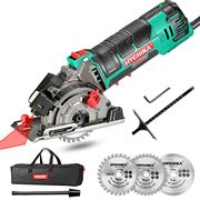 LIGHTNING DEAL - HYCHIKA Circular Saw with 3 Saw Blades
