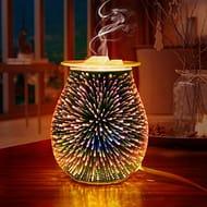 3D Glass Electric Oil Burner Wax Melt Burner Warmer