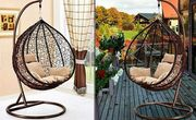 Rattan Hanging Egg Chair with Cushions - 2 Colours