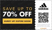 up to 70% off ADIDAS + FREE DELIVERY in 3 DAYS!!!