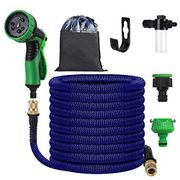 OOWOLF 50ft Expandable Garden Hose Pipe, 9 Spray Methods - Only £9.98!