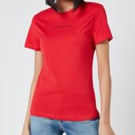 Calvin Klein Jeans Women's Back Monogram Crew Neck T-Shirt - Racing Red