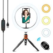 """10"""" LED Ring Light with Tripod Stand & Phone Holder"""