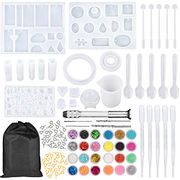 NANAPLUMS 159Pcs Resin Moulds and Tools Full Kit - Only £8.49!
