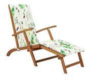 Argos Home Wooden Steamer Chair with Moorland Cushio