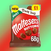20 X Mint Maltesers Buttons 68g Treat Bags