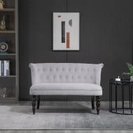 HOMCOM Vintage Armless Button-Tufted Sofa Couch
